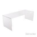 Modernt soffbord i klar akryl